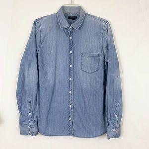 J. Crew Always Chambray Denim Button Down Shirt